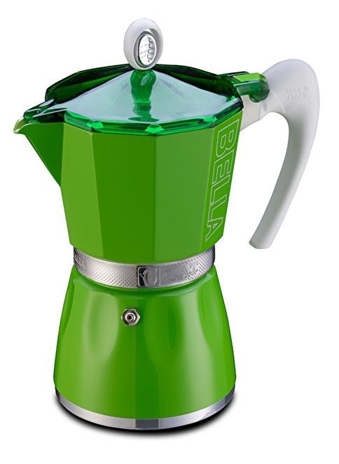 Gat Bella Espresso Makinası 3 Kişilik Sarı Yeşil